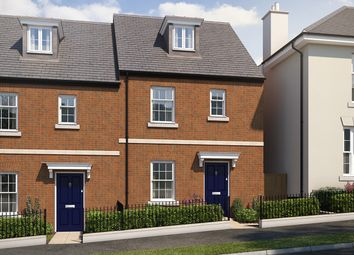 "Thumbnail 4 bed terraced house for sale in ""The Aslin"" at Haye Road, Sherford, Plymouth"