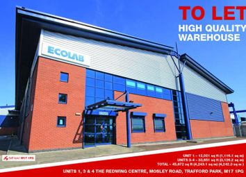 Thumbnail Light industrial to let in Unit 1, The Redwing Centre, Mosley Road, Trafford Park, Manchester