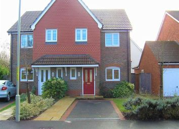 Thumbnail 3 bed semi-detached house to rent in Galloway Drive, Ashford, Kent