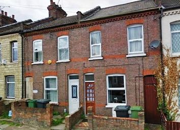 Thumbnail 3 bed terraced house to rent in Shirley Road, Luton