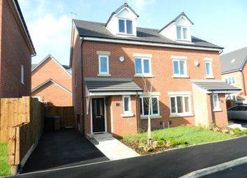 Thumbnail 4 bedroom semi-detached house to rent in Spinners Drive, Off Moss Lane, Worsley