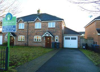 Thumbnail 3 bedroom semi-detached house for sale in Embleton Grove, Shard End, Birmingham