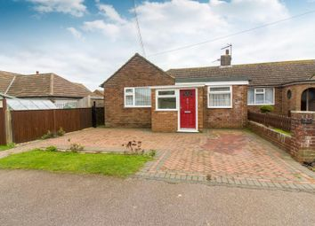 Thumbnail 2 bed semi-detached bungalow for sale in Victoria Road, Capel-Le-Ferne, Folkestone