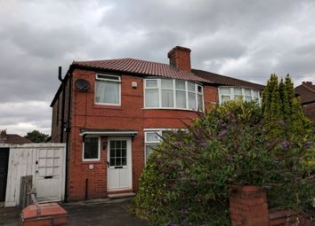 Thumbnail 3 bed semi-detached house to rent in Heathside Road, Withington