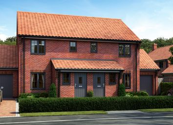 Thumbnail 2 bed semi-detached house for sale in Rightup Lane, Wymondham