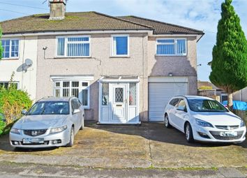 Thumbnail 4 bed semi-detached house for sale in Fields Road, Oakfield, Cwmbran, Torfaen