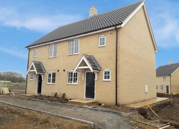 Thumbnail 2 bed semi-detached house for sale in Heron Rise, Wymondham