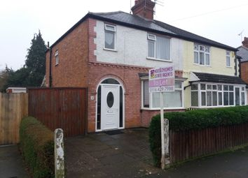 Thumbnail 3 bed semi-detached house to rent in Burleigh Avenue, Wigston Fields Leicester