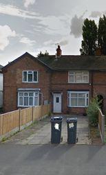 Thumbnail 1 bedroom terraced house to rent in Allcroft Road, Birmingham