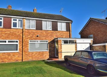Thumbnail 3 bed semi-detached house for sale in Croasdaile Road, Stansted