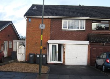 Thumbnail 3 bed semi-detached house to rent in Hilltop Drive, Hodge Hill, Birmingham
