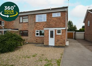 Thumbnail 3 bed semi-detached house for sale in Lowick Drive, Wigston, Leicester