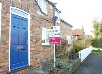 Thumbnail 2 bedroom terraced house to rent in Garden Flats Lane, Dunnington, York