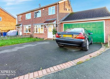 Thumbnail 3 bed semi-detached house for sale in Ashleigh Drive, Uttoxeter, Staffordshire