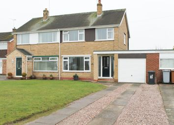 Thumbnail 3 bed semi-detached house for sale in Milton Drive, Crewe