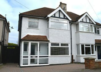 Thumbnail 3 bedroom semi-detached house to rent in Shawford Road, West Ewell, Epsom