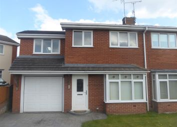 Thumbnail 4 bedroom semi-detached house for sale in Coningsby Court, Wrexham