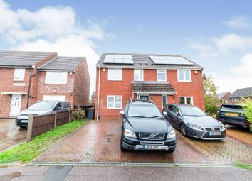 Thumbnail 3 bed semi-detached house for sale in Canberra Road, Shortstown, Bedford