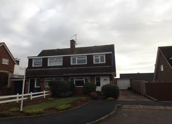 Thumbnail 3 bed semi-detached house to rent in Norman Close, Exmouth