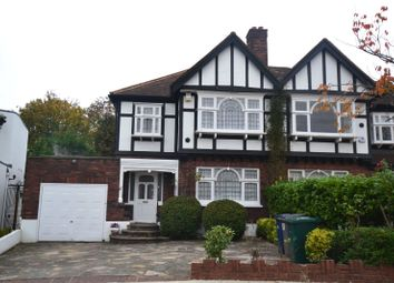 Thumbnail 3 bed semi-detached house to rent in Abbots Gardens, East Finchley, London