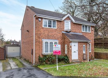 Thumbnail 3 bed semi-detached house for sale in Parkside Close, Meanwood, Leeds