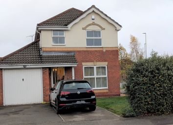 Thumbnail 3 bed detached house to rent in Haskell Close, Leicester