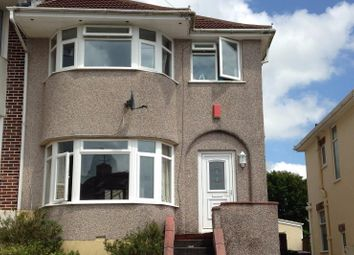 Thumbnail 3 bedroom semi-detached house to rent in Churchway, Plymouth