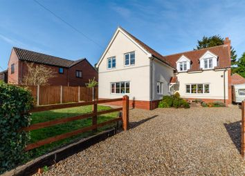 Thumbnail 4 bed detached house for sale in The Street, Ashwellthorpe, Norwich