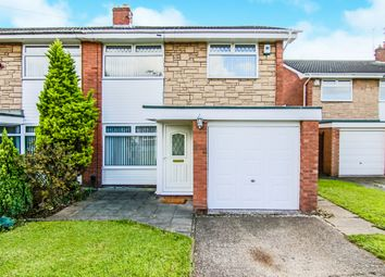 Thumbnail 3 bed semi-detached house for sale in Winfrith Drive, Spital, Wirral