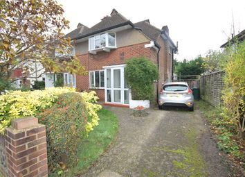 Thumbnail 2 bed semi-detached house for sale in Connaught Avenue, Ashford, Middlesex