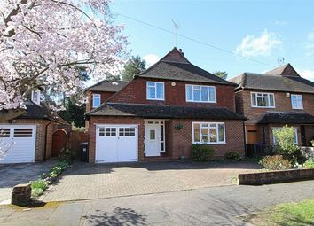 Thumbnail 4 bed detached house for sale in Abbey Close, Pyrford, Woking