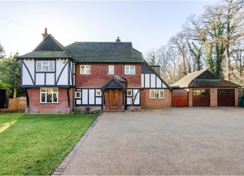 Thumbnail 5 bed detached house for sale in Woodlands Close, Ottershaw, Chertsey