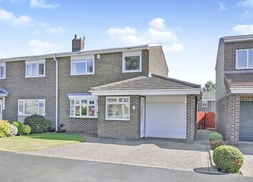 Thumbnail 3 bed semi-detached house for sale in Norburn Park, Witton Gilbert, Durham