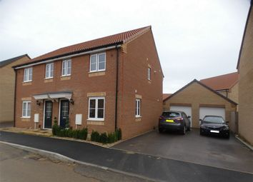 Thumbnail 3 bed semi-detached house for sale in Dandelion Drive, Whittlesey, Peterborough, Cambridgeshire