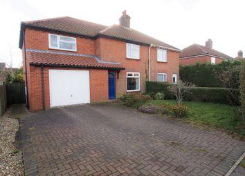 Thumbnail 4 bed semi-detached house for sale in Preston Avenue, Wymondham