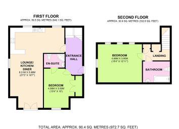 Thumbnail 2 bedroom flat for sale in Woodfield Lane, Ashtead