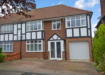 Thumbnail 4 bedroom semi-detached house to rent in Lyndhurst Rise, Chigwell