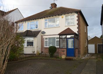 Thumbnail 3 bed semi-detached house to rent in Squirrels Heath Road, Harold Wood, Romford