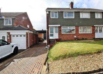 Thumbnail 3 bed semi-detached house for sale in Carlton Crescent, Beddau, Pontypridd, Rhondda, Cynon, Taff.