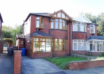 Thumbnail 3 bed semi-detached house for sale in Stanley Avenue North, Prestwich, Prestwich Manchester