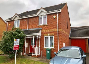 Thumbnail 2 bed semi-detached house for sale in Gavin Close, Thorpe Astley, Leicester