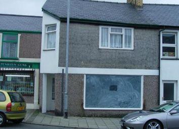 Thumbnail 1 bed terraced house for sale in High Street, Penrhyndeudraeth, Gwynedd