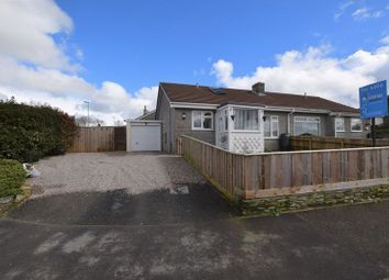 Thumbnail 2 bed semi-detached bungalow for sale in Tor View, Tregadillett, Launceston