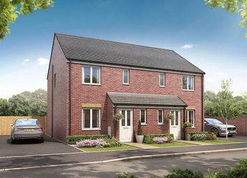 "Thumbnail 3 bed semi-detached house for sale in ""The Hanbury"" at Prestwick Road, Dinnington, Newcastle Upon Tyne"