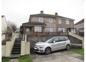 Thumbnail 2 bed semi-detached house for sale in Budshead Road, Plymouth