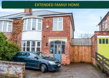 Thumbnail 3 bed semi-detached house for sale in Queens Road, Clarendon Park, Leicester