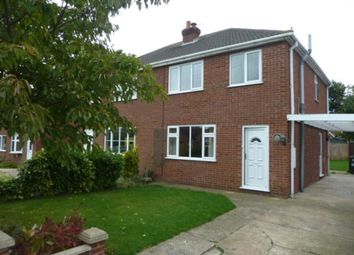 Thumbnail 3 bed semi-detached house to rent in Highfield Road, North Thoresby, Grimsby