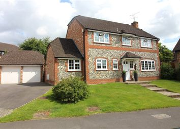 Thumbnail 4 bedroom detached house for sale in Ryves Avenue, Yateley, Hampshire