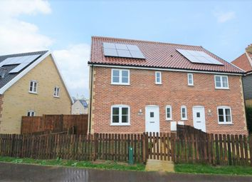 Thumbnail 3 bed semi-detached house for sale in The Crescent, Lopham Road, East Harling, Norwich