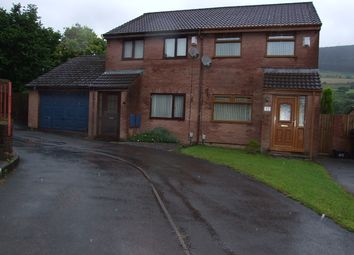 Thumbnail 3 bedroom semi-detached house for sale in Woodland Row, Cwmavon, Port Talbot.